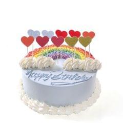 10x Romantic Heart Cupcake Picks Cake Topper Wedding Birthday Party Decor #1