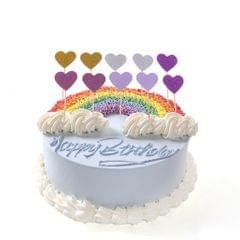 10x Romantic Heart Cupcake Picks Cake Topper Wedding Birthday Party Decor #4