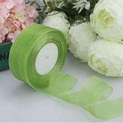 45m Sheer Solid Organza Ribbon Tulle Roll Spool Gift Wrapping Green