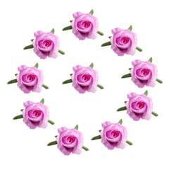 10pcs Artificial Silk Rose Flower Heads Wedding Bouquet DIY Craft Purple red