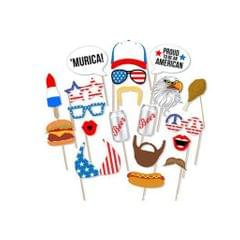 20 Pieces Funny USA Independent Day Photo Booth Prop July 4th Party Decor