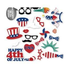 24 Pieces Happy 4th of July Photo Booth Prop USA Independent Day Supplier