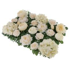 Artificial Rose Peony Hydrangea Flower Wall Panels Backdrop Champagne