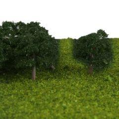 25 Pcs Scenery Landscape Train Model Trees Scale 1/300 Dark Green