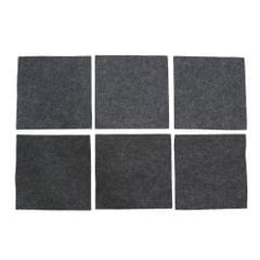 6pcs Acoustic Panel Sound Absorption Foam for Home Theater Studio Gray