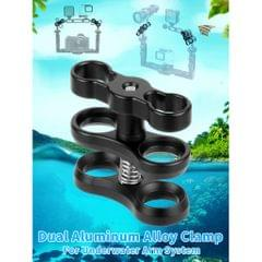 Diving Light Butterfly Clip Arm Clamp Mount Ball Adapter Connector For Gopro
