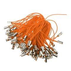 100pcs Mobile Cellphone Braided Lariat Lanyard Cords Dangle Straps Orange