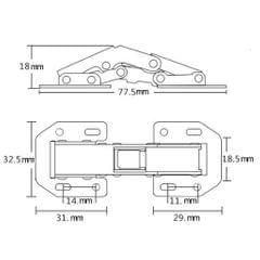 Stainless Steel Door Hinges Cupboard Furniture Door Box Spring Hinges 3 inch