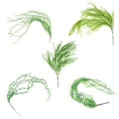 Artificial Flower String of Pearls Wicker Wall Hanging Succulents Plants A
