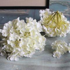 Artificial Hydrangea Silk Flower Flower Arrangements White