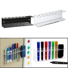 Marker Pens Holder for Whiteboards, Wall Mount Dry Eraser Organizer Clear