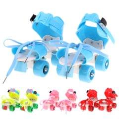 Children Roller Skates Double Row 4 Wheels Skating Shoes Lace Sliding Pink