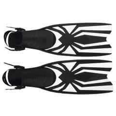 Diving Snorkeling Scuba Fins Open Heel Flippers Shoes for Women Men M-L