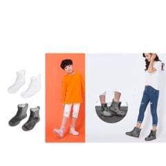 Kids Men Women Reusable Waterproof Rain Shoe Cover Overshoes Clear Size 5