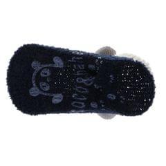 Coral cashmere cartoon non-slip baby baby floor socks 12-24M Dark blue