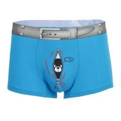 Mens Fun Bear Print Boxers Underwear Bulge Pouch Underpants Shorts L Blue