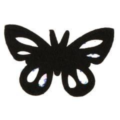 Sew On Rhinestone Butterfly Applique Shoe Clips Charm Bouquet Brooch DIY Blue