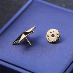 Star Brooch Pins Badge Suit Cloth Clip Shirt Lapel Pin Collor Pin  Gold