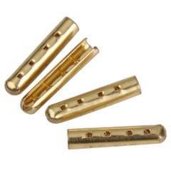 4pcs Metal Gold Color Shoe Lace Tips