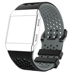 Soft Silicone Strap Band Sport Bracelet for Ionic Smart Watch Black-Gray