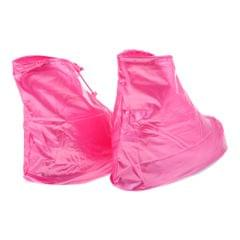 Shoes Cover Reusable Anti-slip Boots Zippered Overshoes Covers Pink M