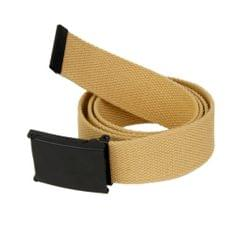Unisex Webbing Canvas Belt Casual Waistband - Khaki