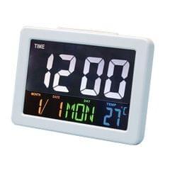 LCD Digital Nap Timer Snooze Alarm Clock Watch Temperature Display White
