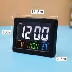 LCD Digital Nap Timer Snooze Alarm Clock Watch Temperature Display Black