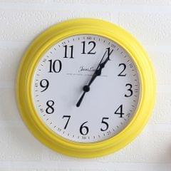9inch Wall clock Bedroom Living Room Quartz Watch Digital Clock Yellow