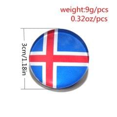 Round Buttons 32 Teams National Flag Football Fans Brooch Iceland