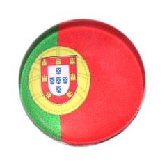 Round Buttons 32 Teams National Flag Football Fans Brooch Portugal