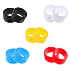 2Pcs Badminton Tennis Racket Handle Fix Ring Protector Band Overgrip Black