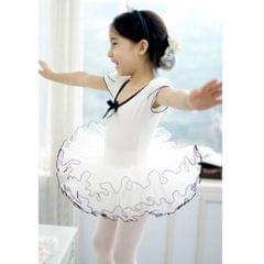 Kids Girls' Short Sleeve Ruffle Tutu Skirted Dance Ballet Dress Leotard 150