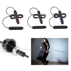 High Speed Bearing Aerobic Jump Ropes Fitness Exercise Equipments Black