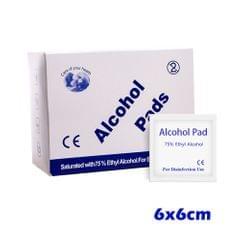 100 PCS Disposable 75% Alcohol Pads Individual Packing Cloth