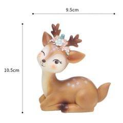 Mini Simulated Deer Ornaments Home Garden Car Decoration Ornament Elegent