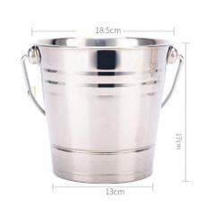 Portable Stainless Steel Ice Bucket Champagne Wine Beer Cooler Home Bar 2.8L