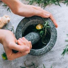 Mortar and Pestle Set Granite Stone Herbs Masher Manual Garlic Grinder