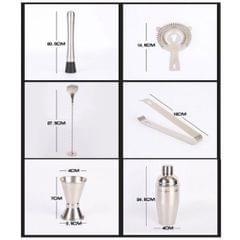 12pcs/set Stainless Steel Bartender Kit Cocktail Shaker Bar Set Tools