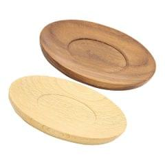 Wooden Drink Coasters Wood Cup Mat Pad Round Glass Cushion Placemat Beech