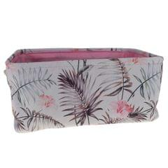 Collapsible Canvas Storage Bins Baskets Baby Toy Handles Pink 35X25X16cm