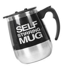 Double Insulated Self Stirring Mug Electric Coffee Cup Souvenir Black 450ml