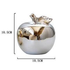 Creatieve Keramische Apple Ornament Home Decorations Plated Features Silver