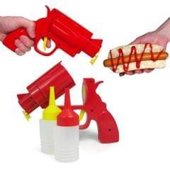 Kitchen Resturant Condiment Dispenser Bottle - Red Condiment Gun Condiments