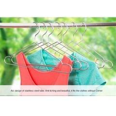 10x Anti-slip Stainless Steel Clothes Hangers Coat Clothes Hanger Rack 42cm