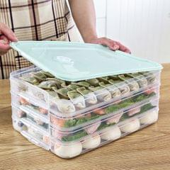 4-Layer Food Storage Box Case Clear Refrigerator Fresh Keeping Container