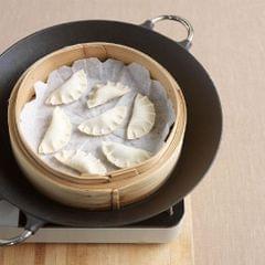 Kitchen Bamboo Steamer Basket Asian Food Dumpling Steamer 10.2inch Basket