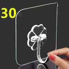 30Pcs Seamless Adhesive Hook Transparent Hanger Hooks Wall Rack Home Decor