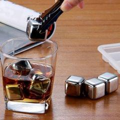 8x Stainless Steel Ice Cubes Whiskey Stones for Beer Red Wine Soda Beverage