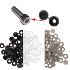 Plastic Hinged Cover Screw Caps Fold Over To Fit Size 6g or 8g Gauge 50Pcs Black